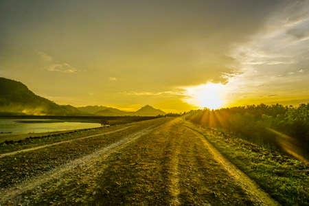 Purwakarta, West Java, Indonesia (03302018) : The view in Jatiluhur Dam with beautiful sunset. The Beauty of Jati Luhur Dam