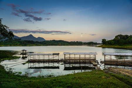 Purwakarta, West Java, Indonesia (03302018) : Beautiful sunrise in Jatiluhur Dam fishing place