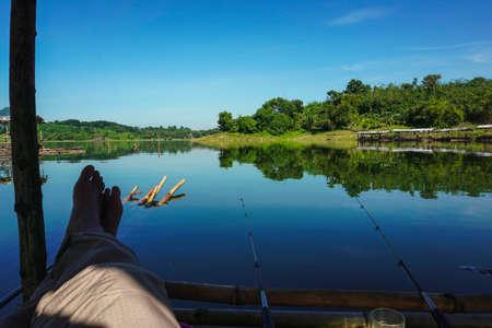 Purwakarta, West Java, Indonesia (03302018) : Enjoy fishing on the edge of Jatiluhur Dam