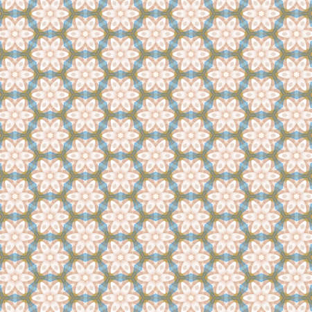 Colorful seamless repeating tile pattern for modern interiors design, wallpaper, textile industry Standard-Bild