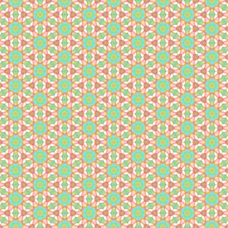 Kaleidoscope seamless background pattern for printing on fabric, paper for scrapbook, wallpaper, cover, page book. Standard-Bild