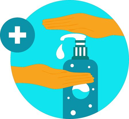 Hand sanitizer free vector illustration