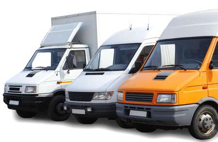haulage: three isolated vans