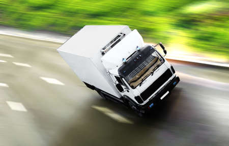 lorry: good day for trip Stock Photo
