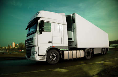 stop - see many other trucks in my portfolio Stock Photo - 9123156