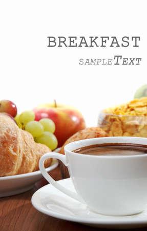 breakfast table: breakfast with coffee