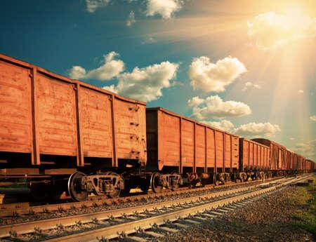 Güterzug Standard-Bild