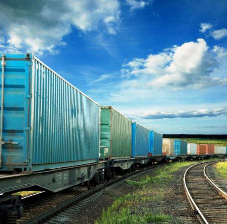 petit train: wagons de marchandises Banque d'images