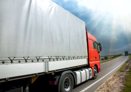 transporter: truck on a road