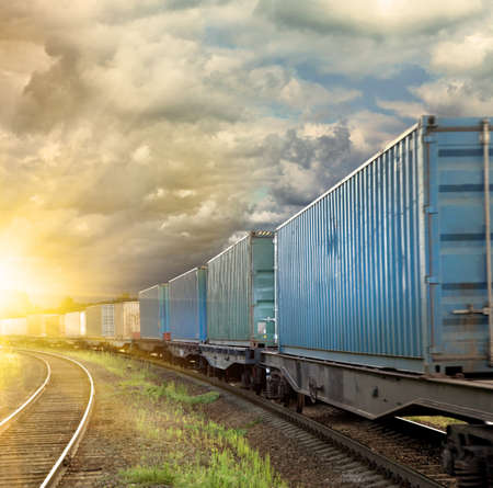 cargo container: Freight train