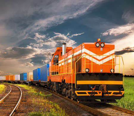 freight train Standard-Bild