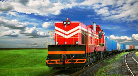 テキストのためのスペースと貨物列車