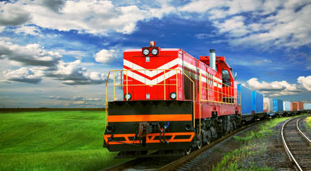 freight train with space for text Stock fotó - 46592782