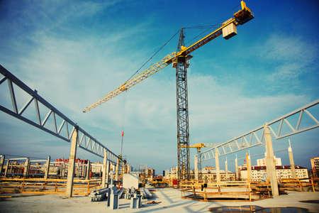construccion: obra de construcción  Foto de archivo