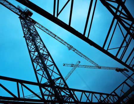 buildingsite: construction cranes