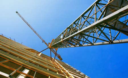 buildingsite: tower crane Stock Photo