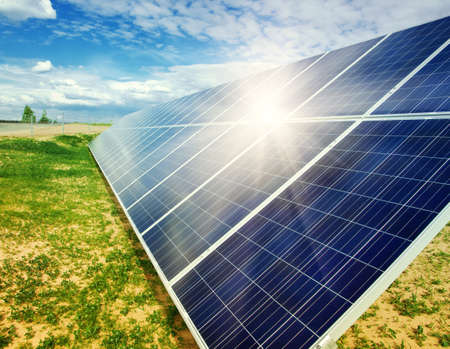 Solar energy panels Stock Photo