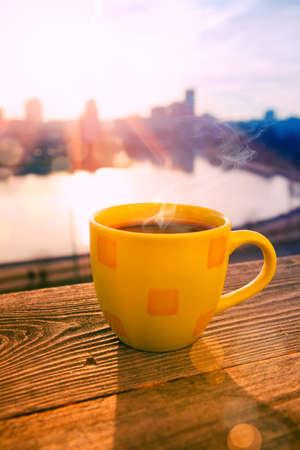 city of sunrise: morning coffee in sunrise