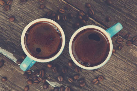 espresso cup: two cups of fresh coffee Stock Photo