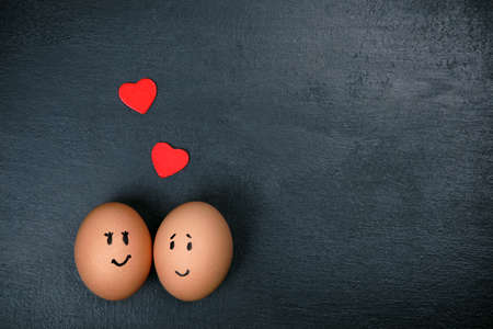 pizarron: huevos divertidos en el amor
