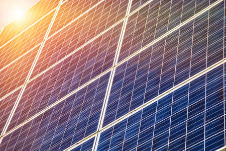 Solar energy panels in sunlight