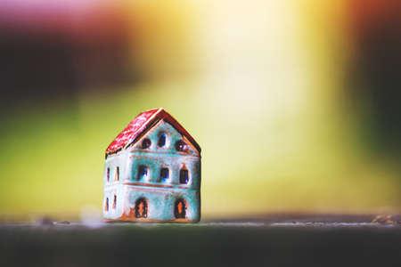Model of ceramic house as symbol