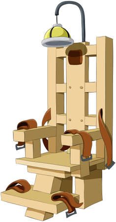 chair wooden: Illustration of the electric chair on a white background