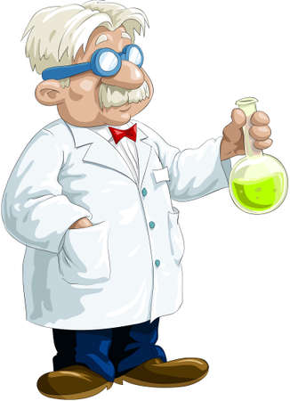 Scheikundige met de kolf in zijn hand Stockfoto - 7804930