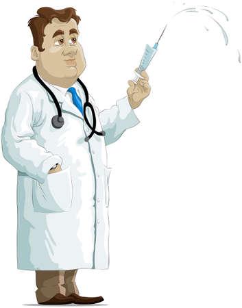 seringues: Le m�decin sur une seringue