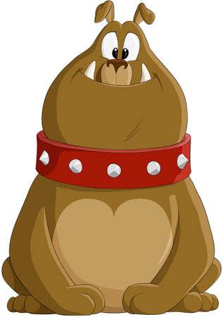 perro caricatura: Ilustraci�n de la caricatura de un bulldog encantadora  Vectores