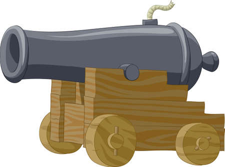 cannon: Big gun on a white background Illustration