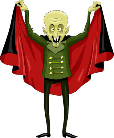 Vampire on a white background Vector