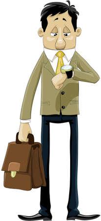 punctual: Un hombre mira su reloj