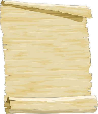 Cartoon sheet of old paper  Vector