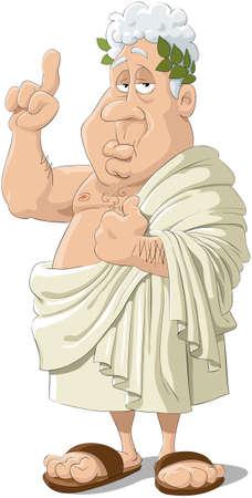 reflexion: Ilustraci�n del fil�sofo griego antiguo
