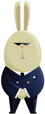 The strict rabbit in a suit Vector