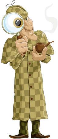 investigacion: Sherlock Holmes con una lupa y una tuber�a
