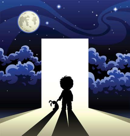 kosmos: Die junge geht in Vergessenheit geraten  Illustration