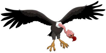 Ilustración de dibujos animados de ave voladora divertido