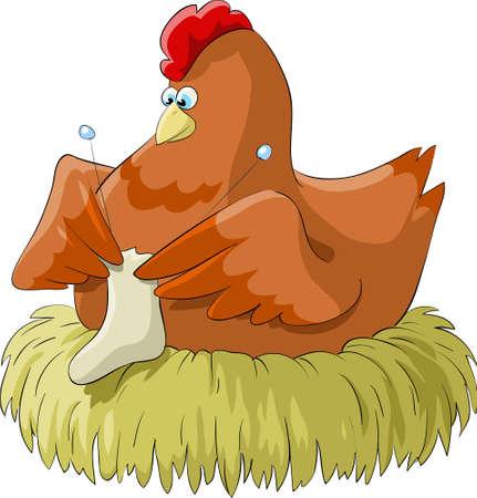 spokes: Escotilla de huevos de pollo en el nido