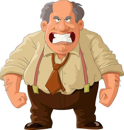 jefe enojado: Jefe enojado Vectores