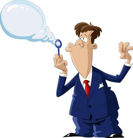 soapy: Un hombre despliega una burbuja