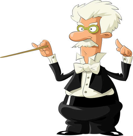 conductors: Conductor on a white background, illustration
