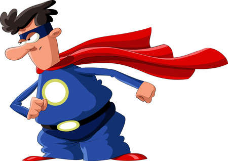 A man dressed as a hero, vector Stock Vector - 8412667