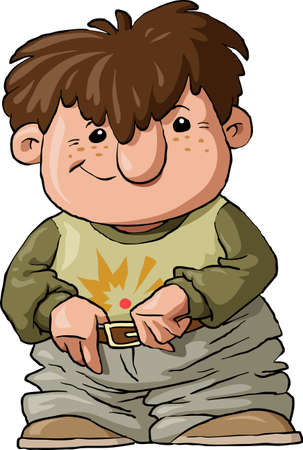 The Boy in the wide trousers, vector Vector
