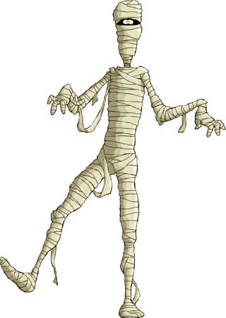 halloween cartoon: Mummy