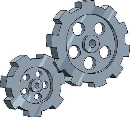 to revolve: Gear on a white background, vector illustration Illustration