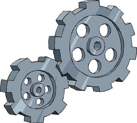 rueda dentada: Marcha sobre un fondo blanco, ilustraci�n vectorial Vectores
