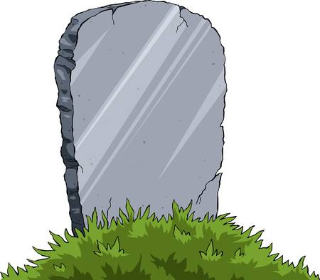 Grave of a white background, vector illustration Vector