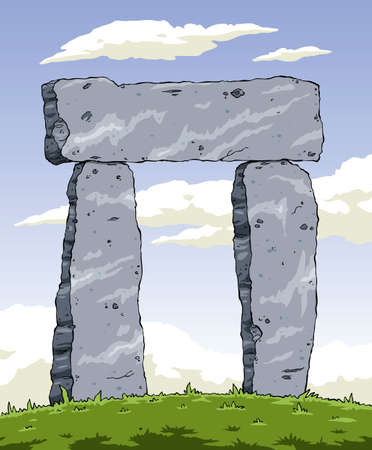 Cartoon ancient structure of stone, vector illustration Vector